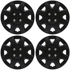 "4 Pc Set of 14"" Matte Black Hub Caps Skin Rim Cover for Oem Steel Wheel (Fits: Saturn)"