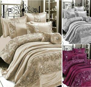Designer GIGI EMBROIDERED Lace Polyester Duvet Cover Set.Or Bedspread All Size