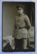 73841 Kabinett Foto Soldat mit Seitengewehr mit Portepee