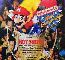1990 Nintendo Power Magazine 12 NES Super C Final Fantasy Poster Championship Ad