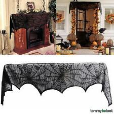 Halloween Party Window Decorations Props Cobweb Black Spider Curtain Lace Web