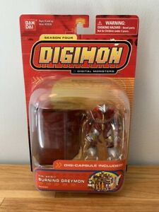 Digimon Digi-Spirit Burning Greymon Digi-Capsule Season Four Bandai New Sealed