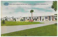 Postcard GA Linen Brunswick Georgia 1950's AAA North Wing Seabreeze Motor Ct C12