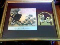 Anne Worsham Richardson Signed Print & Ornament American Bald Eagle New