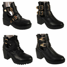 Buckle Clubwear Ankle Boots for Women