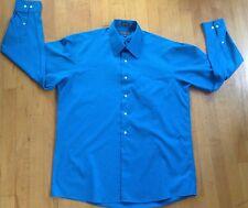 Mens Covington Dress Shirt  Aqua Blue Size Large 16- 16 1/2