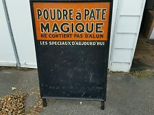 Vintage advertising poudre à pâte magic powder sign board display grocerie store