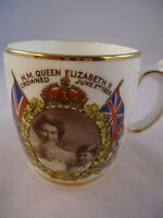 Salisbury Queen Elizabeth II Mug Coronation 1953 Charles & Anne British