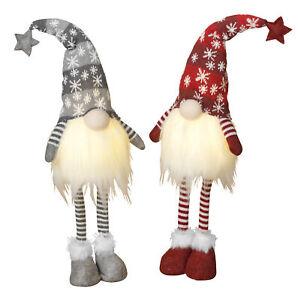 "28""T Large Christmas Standing Plush Gnomes Statue Dolls Figurine Set Decorations"