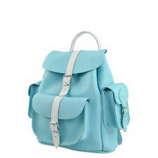 Grafea Light Blue & White Vera Pelle 100% Zaino New-5060258101121