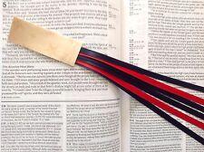 MILITARY SERIES 6 ribbon bookmark multi page DRESS BLUES handmade USMC