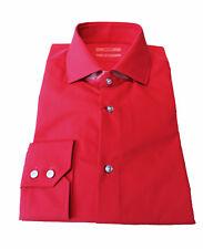 HUGO BOSS Herren Langarm Hemd Freizeithemd Businesshemd rot 40