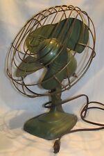 Vintage Green Dominion Fan Cast Iron Base Works Industrial - Style 2011 1-Speed