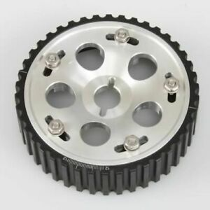 Fidanza 994204 Cam Gear Adjustable Billet Aluminum Silver Anodized NEW