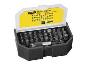 Stanley 31 Piece Screwdriver Bit Set PZ PH Torx Security Slotted Hex Mag Holder