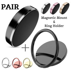 Mobile Phone Ring Holder Finger Grip 360° Rotate Magnetic Stand Mount UK Car