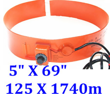 """5"""" X 69"""" 125 X 1740mm 1000W w/ Control Tank Oil Barrel Drum Band JSR Heater"""