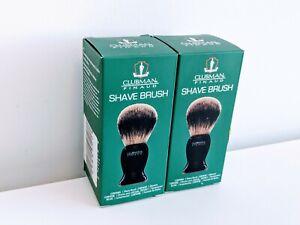2x Clubman Pinaud Custom Synthetic Sensitive Skin Bristle Shave Brush