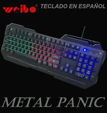 Teclado gaming en español para ordenador PC retroiluminado multi funcion letra ñ
