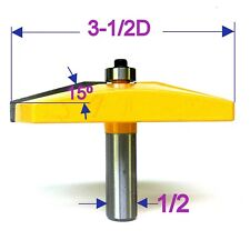 "1pc 3-1/2"" Dia 15° Straight  Raised Panel  Router Bit S"