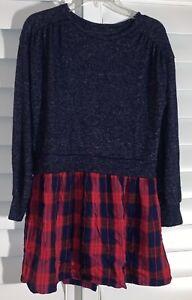 Gap Kids Red/Navy Blue Plaid Girls Dress Size 8