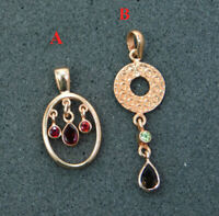 Garnet Gemstone Rose Gold Plated Pendant 925 Sterling Silver Jewelry MP2355