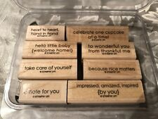 Stampin Up! Sweet Little Sentiments 8 pc Mounted Rubber Stamp Set