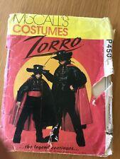 McCall's Zorro sewing pattern.