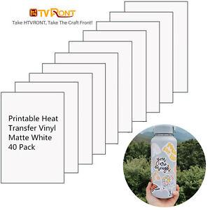 40x Matte White Printable Vinyl Sticker Paper for Inkjet & Laser Printer Tags
