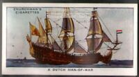 A Dutch Man-Of-War Naval Sailing Ship  80 Y/O Ad Trade Card