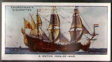 A Dutch Man-Of-War Naval Sailing Ship  80 Y/O Ad Trade Card