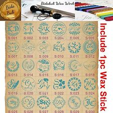 1pc of 66 Styles Custom Made 2 Initial Letters Wax Seal Stamp+1 Wax Stick