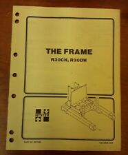 Hyster The Frame Manual For R30ch R30dh Part No897086