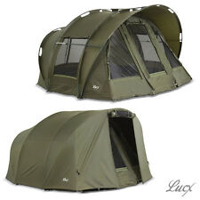 Lucx 2 Man Fishing Tent + Cover / Bivvy + Winterskin / Carp Tent + Overwrap