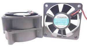 3 pack Sunon 60mm x 20mm Cooling Fan 12V DC - 15 CFM KDE1206PKB3 3,200 RPM
