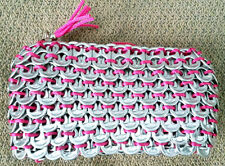 Purse - Pink - Handmade Recycled Soda Pop Top Can Tab Coin Makeup Cosmetic Bag