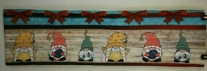 "Christmas Gnome Farmhouse Style Table Runner  13"" x 92"""