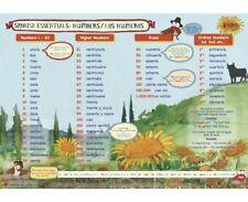 Educational Learning Mats Español Númerios Básico Lengua Extranjera Essentials