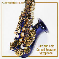 Curved Soprano Saxophone, Blue - Masterpiece