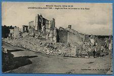 CPA: GERBEVILLER la MARTYRE - Rues de Lorraine et de la Poste / Guerre 14-18