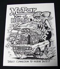 Rat Fink Ed Big Daddy Roth Style Mopar Poster Print Vintage Dodge Hemi VonDutch