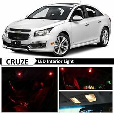 12x Red LED Lights Interior Package Kit for 2011-2017 Chevy Cruze