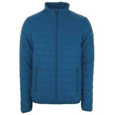 Henleys Men's Demolition Padded Coat Jacket Blue Medium