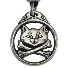 Pewter Captain Kitty Pirate Familiar Jewelry Necklace Gothic Cat feline Pendant