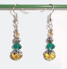 Lady 5-6mmx7-8mm double Dangle Perles Argent Crochet Parti Boucle d/'oreille Boîte Cadeau