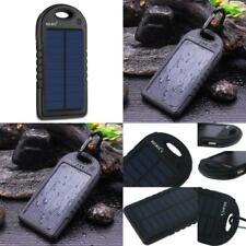 Solar Charger,Dizaul 5000Mah Portable Solar Power Bank Waterproof/Shockproof/Dus