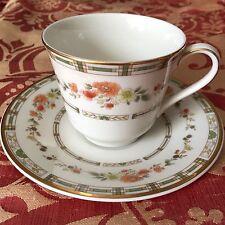 ROYAL DOULTON Mosaic Garden Fine China Dessert Coffee Tea Cups & Saucers Set 10