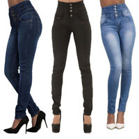 Women's Slim Skinny Denim Pants High Waisted Trousers Stretchy Jeggings Jeans