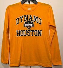 NWOT Houston Dynamo Soccer Youth Long Sleeve T-Shirt Boy's Tee Shirt Futbol MLS