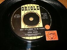 SUSAN SINGER - GEE IT'S GREAT TO BE YOUNG - HELLO FIRST  / LISTEN - GIRL POPCORN